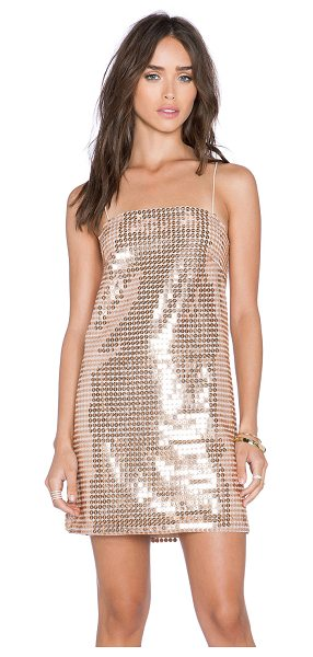 Whitney Eve Escalante dress in metallic gold