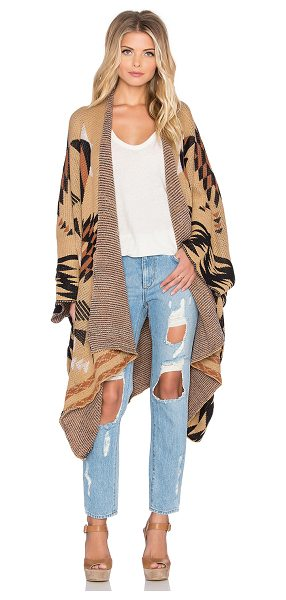 WILDE HEART At ease poncho - 100% acrylic. Hand wash cold. Open front. WLDE-WK13....