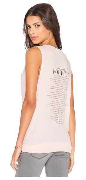 WILDFOX 4th list tank - 50% poly 50% cotton. Front and back graphic print....