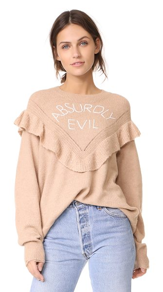 WILDFOX absurdly evil ryder sweater in desert dunes - This oversized Wildfox sweater is detailed with...