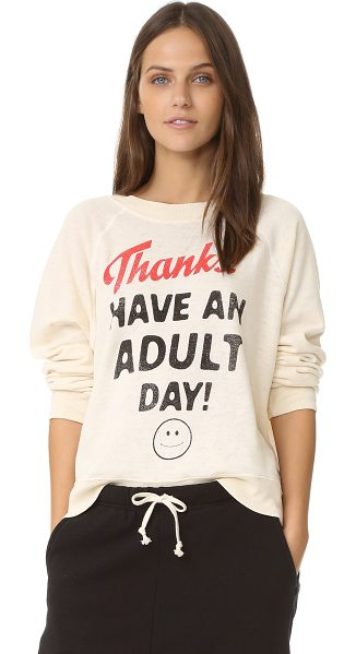 WILDFOX Adult day sweater - A lighthearted Wildfox sweatshirt, detailed with...