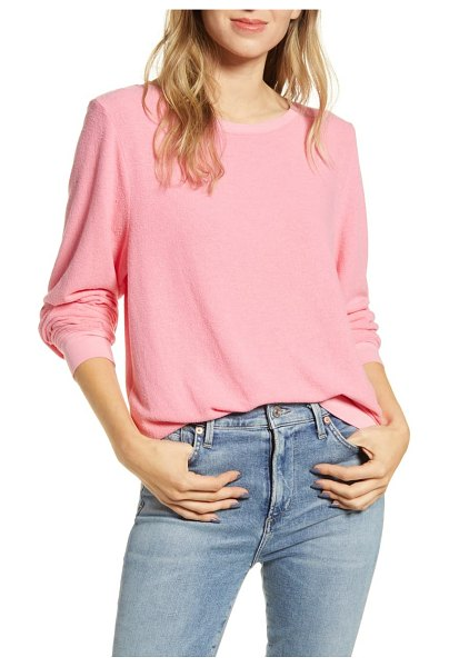 Wildfox baggy beach jumper pullover in pink