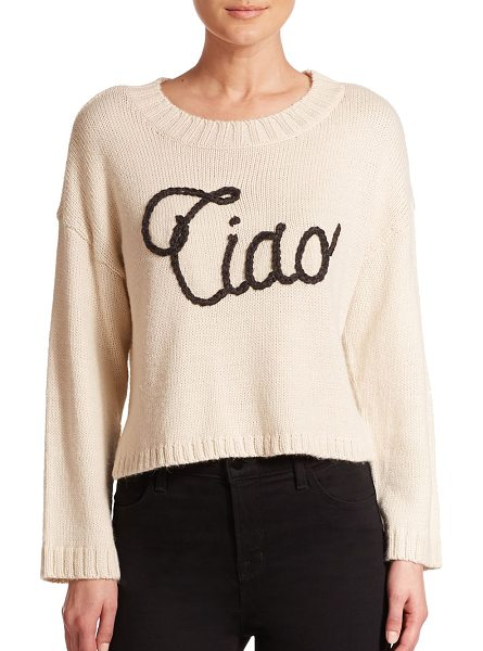 Wildfox Ciao bella sweater in vintagelace - An Italian greeting goes graphic and adds textural...