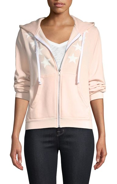 WILDFOX cosmos star hoodie - Zip-front hoodie with front star graphics. Attached...