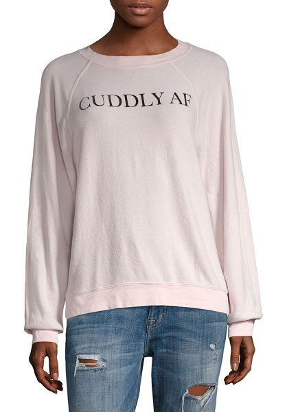 WILDFOX cuddly af sweatshirt in ghost pink - From Sun Kissed collection. Smooth silky sweatshirt with...