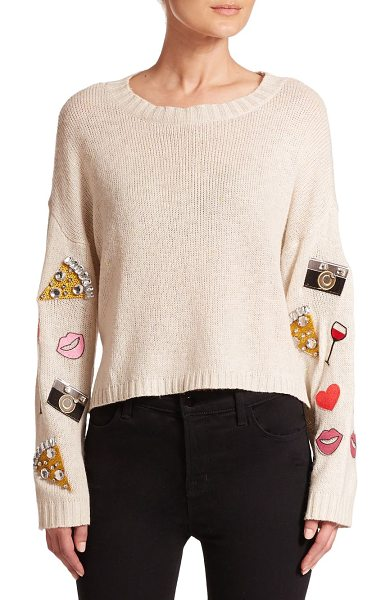 WILDFOX Embellished emoji sweater - Sweater playfully updated with emoji appliquésRibbed...