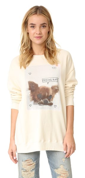 Wildfox feeling ruff sweatshirt in vanilla latte - An oversized Wildfox sweatshirt composed of plush...