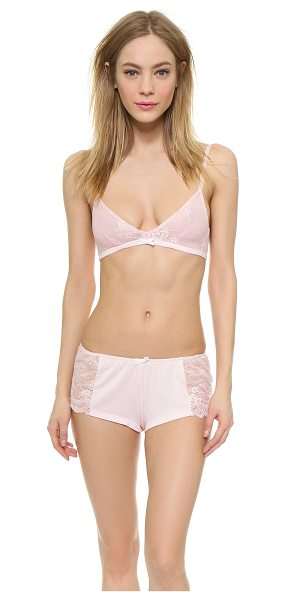 Wildfox First comes love bralette & tap shorts in blushing bride