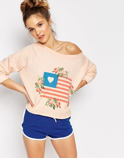 WILDFOX Granny's Flag Sweater - Sweater by Wildfox, Soft-touch knit, Boat neckline,...