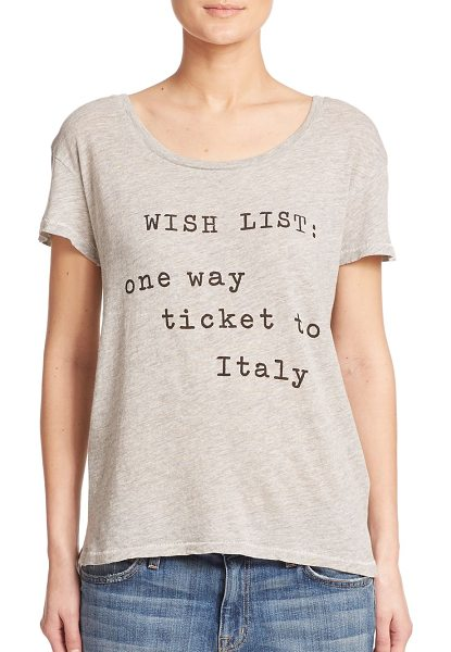 Wildfox Italian wishlist tee in vintagelace - This softly heathered stretch jersey tee states your...