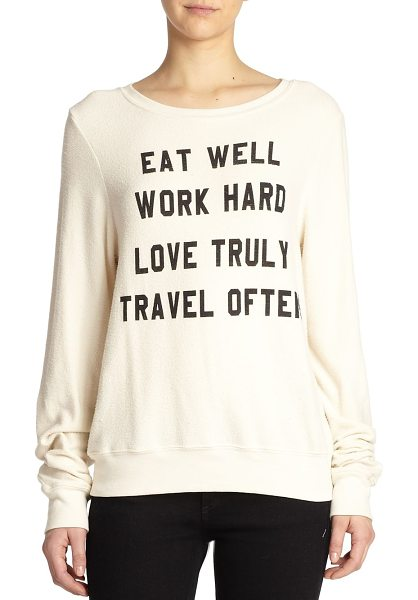 WILDFOX Mantra-print sweatshirt - Express your striking style and modern state of mind in...
