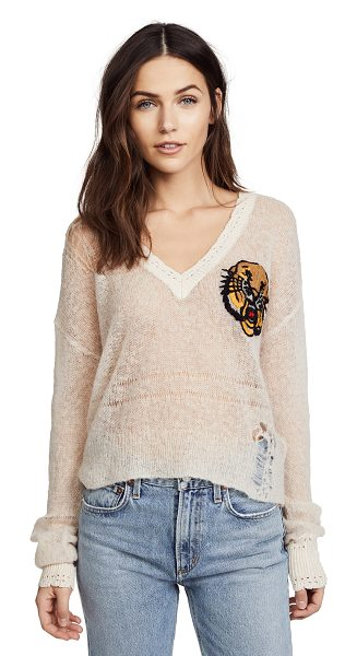 Wildfox mascot sweater in tan haze - Fabric: Loose knit Graphic print Pullover style...