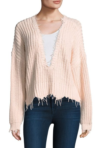 Wildfox palmetto reversible sweater in seashell pink - Eye-catching reversible cotton sweater featuring...