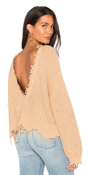 Wildfox Palmetto Sweater in tan - Cotton blend. Dry clean only. Knit fabric. Frayed edges....