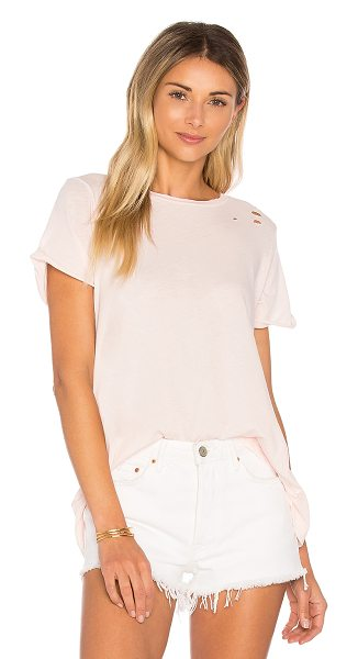 Wildfox Simple Tee in pink gloss - Bad gals don't always wear all black. The Simple Tee is...
