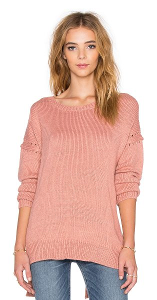 Wildfox Solid sweater in coral - 70% acrylic 15% nylon 8% wool 7% alpaca. Dry clean only....