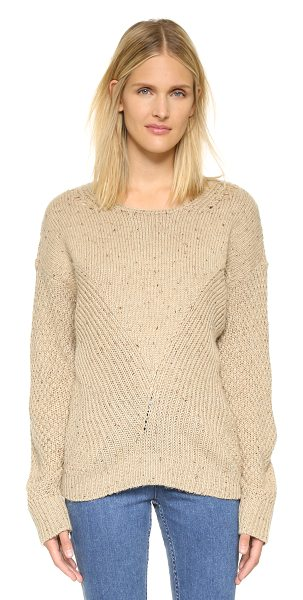 Wildfox Weekday sweater in oatmeal - Mixed stitches lend a tactile touch to this retro...