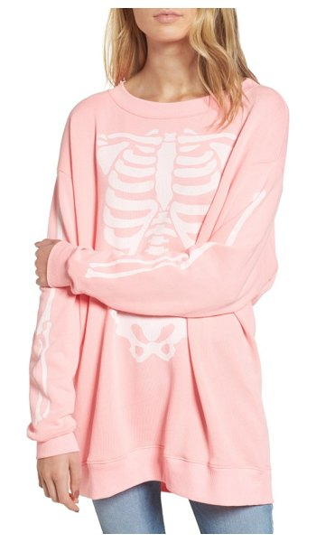 Wildfox x-ray vision sweatshirt in pink - Bare your bones while staying ultra cozy in a slouchy...