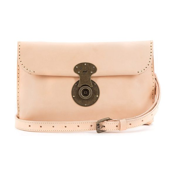 Will Leather Goods Eva leather clutch in natural - A replica 1920s lock adds to the vintage appeal of a...