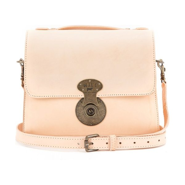 Will Leather Goods Quinn leather crossbody bag in natural - A replica 1920s lock lends vintage appeal to a...