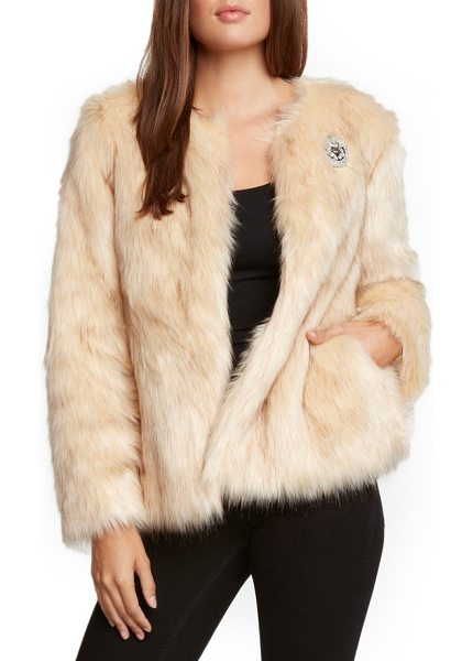 Willow & Clay faux fur jacket in natural - Wrap yourself in the softest surroundings with this...