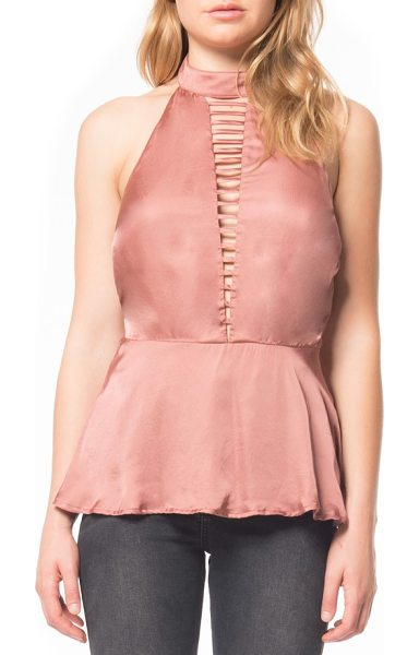 Willow & Clay halter satin tank in rose - Your evening plans deserve a sultry look, like this...