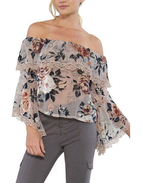 Willow & Clay off the shoulder top in champagne - Rock an utterly ethereal look with this shoulder-baring...