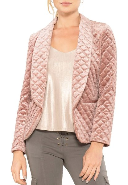 Willow & Clay quilted blazer in rose - A softer take on a classic blazer, this velvet style...