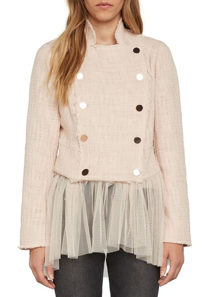 WILLOW & CLAY tulle hem blazer - Add a touch of prima ballerina style to your look with...