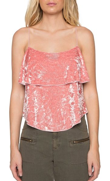 WILLOW & CLAY velvet camisole in rosebud - This ladylike velvet camisole in a rosy shade of pink...