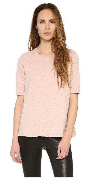 WILT Elbow sleeve trapeze tee - A flared profile lends easy drape to this soft, slubbed...