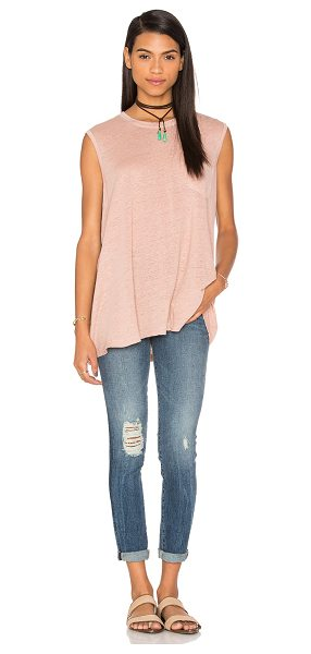 WILT Lux Slub Pocket Trapeze Tank - Cotton blend. Front breast pocket. Slub jersey knit...