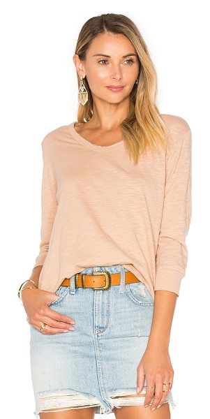 WILT Shrunken 3/4 Sleeve Top - 100% cotton. Slub knit fabric. WILT-WS910. 032583. Wilt...