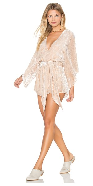 WINSTON WHITE Florentina Romper - Poly blend. Dry clean only. Wrap front. Flared sleeves....