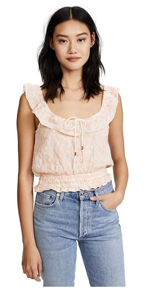 WINSTON WHITE perla top - An off-shoulder Winston White top detailed with floral...