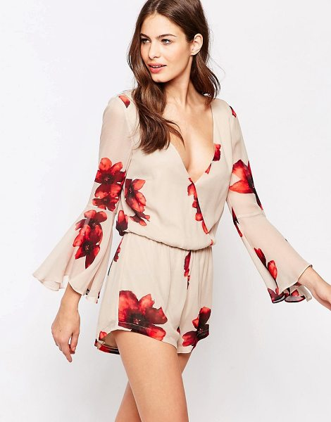 Winston White Remi floral romper in pink - Romper by Winston White, Lined chiffon, All-over print,...