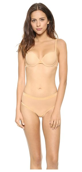 WOLFORD Tulle push up bra in nude - Molded, padded cups lend sexy lift to this Wolford bra....
