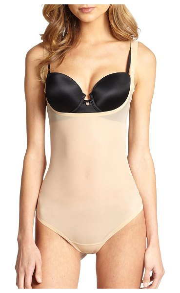 Wolford tulle string bodysuit in nude