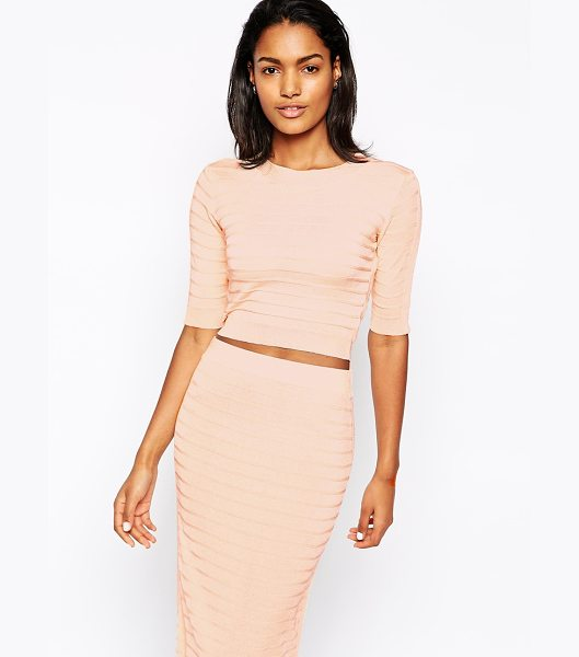 Won Hundred Cadence crop top in knit co-ord in pink - Top by Won Hundred Textured, knit fabric Round neckline...