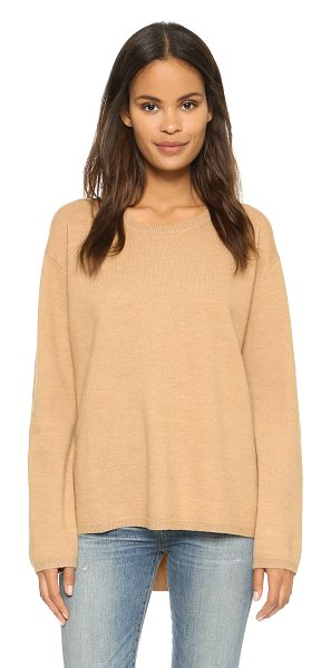 Won Hundred Coral sweater in tan - A loose, boxy Won Hundred sweater in plush merino wool....