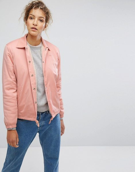 """Wood Wood beverley coach jacket in peachbeige - """"""""Jacket by Wood Wood, Smooth woven fabric, Soft-touch..."""