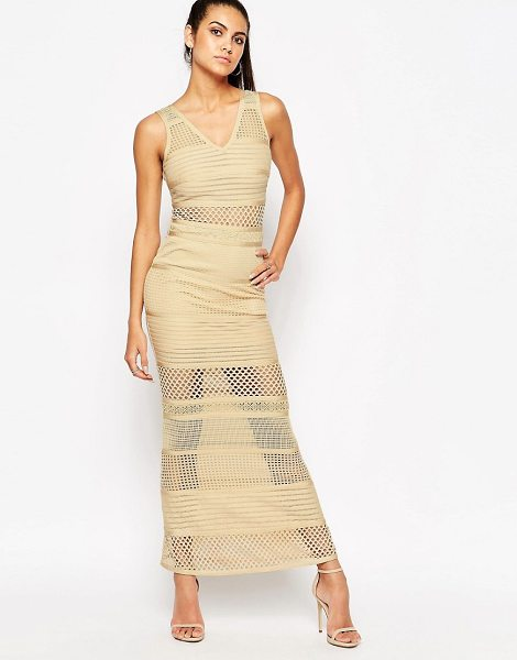 """Wow Couture WOW Couture Bandage Dress With Mesh Inserts in beige - """"""""Dress by Wow Couture, Firm-stretch bandage fabric,..."""