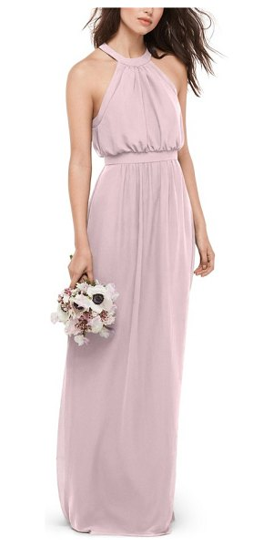 WTOO blouson chiffon gown in chateau rose - This pretty chiffon gown flatters most every figure with...