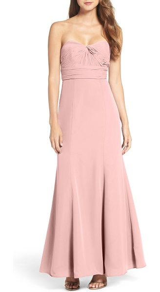 WTOO strapless chiffon gown in chateau rose - Modern and elegantly styled, this chiffon gown...
