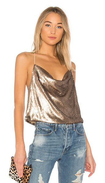 WYLDR Allure Sequin Cami in metallic gold - Sequins: 100% polyContrast: 100% poly. Hand wash cold....