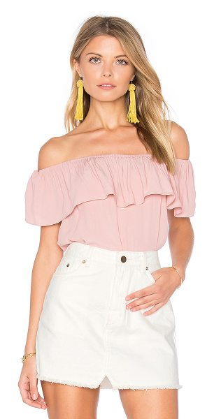 WYLDR Indie Summer Off Shoulder Top in blush - Poly blend. Hand wash cold. Elastic neckline. Draped...