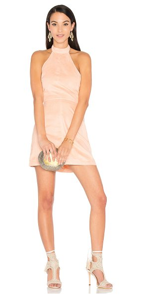 """WYLDR Infinity Dress in blush - """"Poly blend. Dry clean only. Unlined. Back neck button..."""