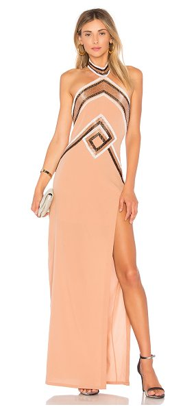 X BY NBD Rosie Gown - Self & Lining: 95% poly 5% lycra. Dry clean only. Fully...