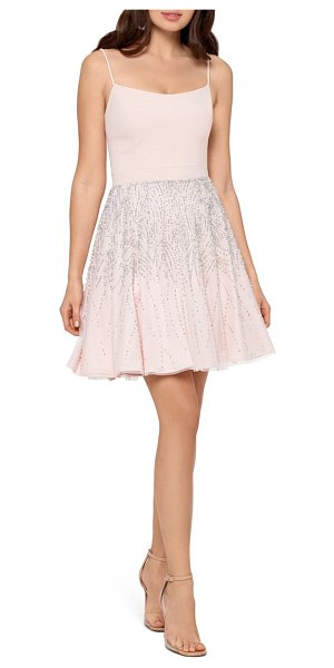 Xscape corset bodice party dress in pink