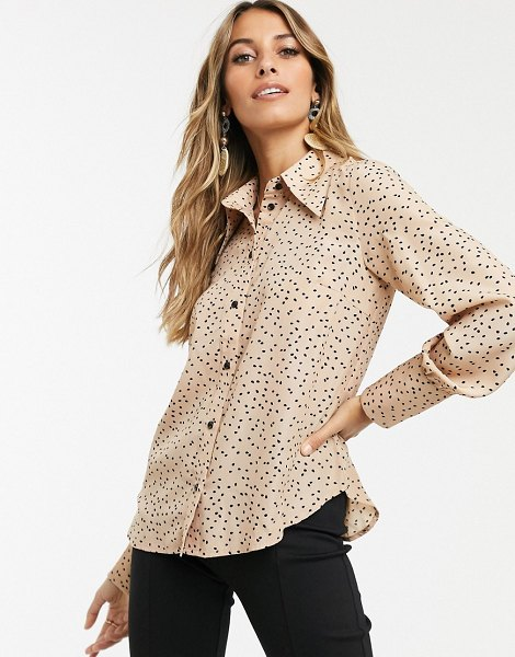 Y.a.s 70s shirt with volume sleeve in cream